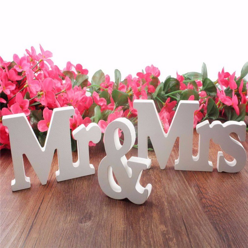 Wooden Wedding Reception Sign Mr Mrs Birthday Party Wall Hang