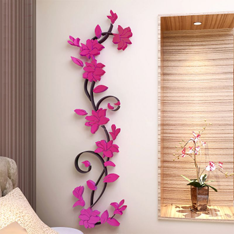 3d removable flowers romantic heart wall sticker decal home room diy